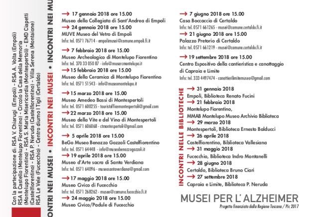 2. Calendario attività 2018 nei musei dell_Empolese Valdelsa e nelle biblioteche